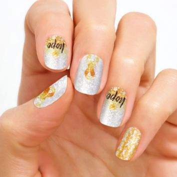 100% Real Nail Polish Strip by Color Street - Hope.Love.Cure (Buy 3 get 1 Free)
