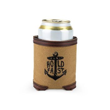 Waxed Canvas Drink Holder by Foster & Rye