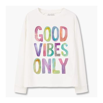 """Good Vibes Only"" Sweatshirt (Women's)"