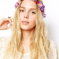 ASOS Crochet Flower Headband - Purple