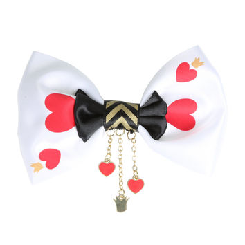 Disney Alice In Wonderland Queen Of Hearts Cosplay Hair Bow