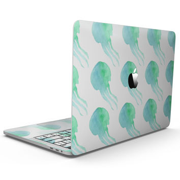 Seamless WaterColor Jellyfish - MacBook Pro with Touch Bar Skin Kit