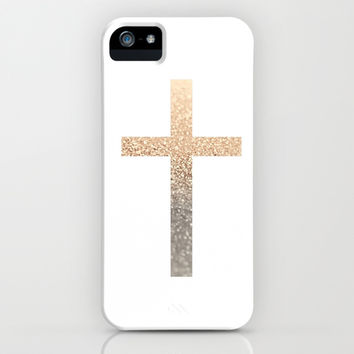 *** GATSBY GOLD CROSS  *** iPhone & iPod Case by Monika Strigel for iphone 5c + 5s + 5 + 4s + 4 + 3gs + 3g + ipod + samsung galaxy !!!