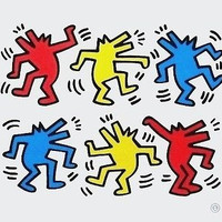 Barking Dogs, Offset Lithograph, Keith Haring