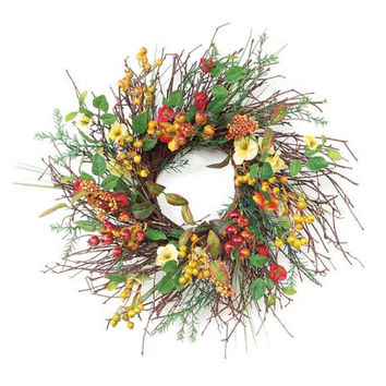 2 Floral Wreaths - Wildflowers And Berries