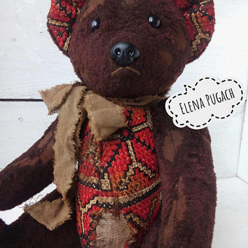 Vintage teddy bear Artist teddy bear OOAK teddy bear Stuffed bear Stuffed toy Collectible bear Collectible toy