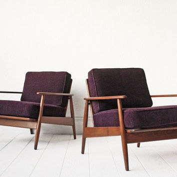 PAIR - Danish Lounge Chairs Arm Chairs