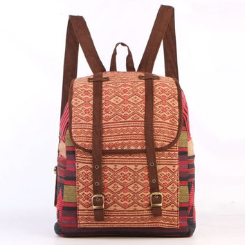 Tribal Rucksack, Tribal Backpack, Velvet, Native backpack, Ethnic Backpack, Ethnic Textile, Women Rucksack, Men Rucksack, Ladies Backpack, G