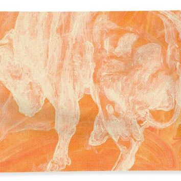 Orange Bull Negative - Bath Towel