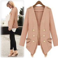 Autumn Fashion Women Jacket double-breasted pockets Slim Jacket 0930