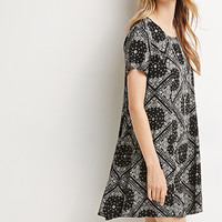 Paisley Diamond Shift Dress