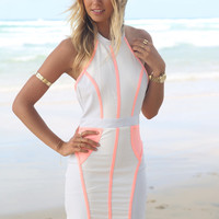 Peach Splice Dress | SABO SKIRT