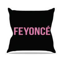 Black Pink Feyonce Beyonce Fiancee Hip Hop Pop Wedding Gift Bride Future Mrs Throw Pillows