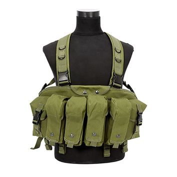 Outdoor Carrier Military Camouflage Tactical Vest With Magazine Pouch Airsoft Chest Rig Backpack