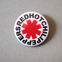 "Red Hot Chili Peppers 1x1.5"" pinback button badge from Stickerama"