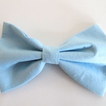 Baby Blue Hair Bow - Blue Fabric Hair Bow - Blue Hair Bow - Light Blue Hair Bow - Kid's Hair Bow - Teen Hair Bow - Bow - Hair Bow