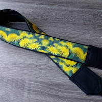 Dundelions Camera Strap. Flowers Camera Strap. For Her. Birthday Gift. Canon Camera Strap. Camera Accessories