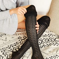 Tonal Scrunchy Over-The-Knee Sock - Urban Outfitters