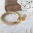 SAILOR rope bracelet with gold chain jute by brideblu on Etsy