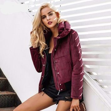 Velvet Puffer (Wine and Navy)