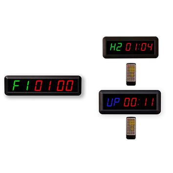 6 Digits Interval Timer Programmable Led Countdown / Up Stopwatch For Home Gym