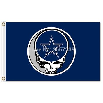 Dallas Cowboys Stealing Your Face Flag 3x5FT NFL banner 100D 150X90CM Polyester brass grommets custom66,free shipping
