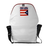 Puerto Rico Flag & Word Messenger Bag