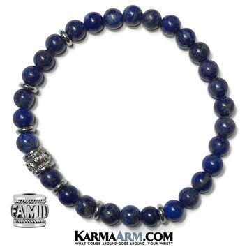 HOME IS WHERE THE HEART IS: Lapis | FAMILY Bead | Yoga Chakra Reiki Healing Bracelet
