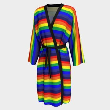 Peignoir Robe PRIDE Rainbow Print