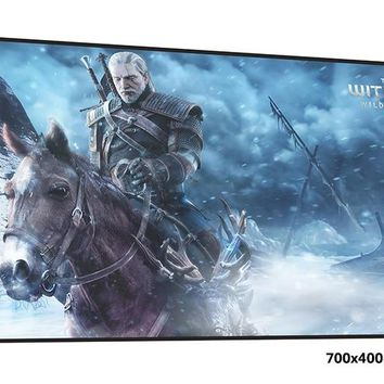 witcher mouse pad 70x40cm Adorable mousepads best gaming mousepad gamer best large personalized mouse pads keyboard pc pad