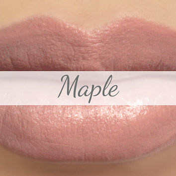 "Lipstick Sample - ""Maple"" (light peachy brown nude lipstick) natural lip tint, balm, lip colour vegan mineral lipstick"