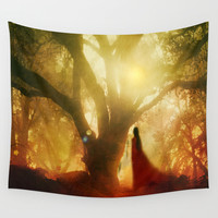 Autumn Song Wall Tapestry by Viviana Gonzalez
