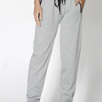 Athletic Drawstring Waist French Terry Jogger Sweatpant