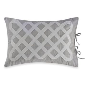 Real Simple® Soleil Oblong Toss Pillow in Grey