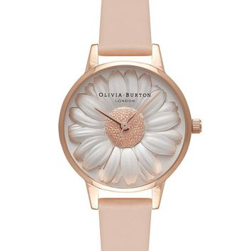 **Floral Show 3D Daisy Nude Watch by Olivia Burton - Watches - Bags & Accessories