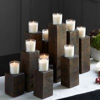 BRENNER WOOD VOTIVE CENTERPIECE