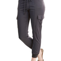 ModCloth Safari Tapered Leg Save the Best for Relax Pants in Charcoal