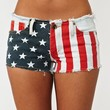 America Cutoff Shorts