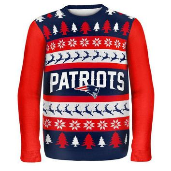 PEAPGQ9 New England Patriots - One Too Many Ugly Christmas Sweater