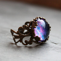 Violet Nebula Lacy Ring  Wanderlust Collection  by DittyDrops