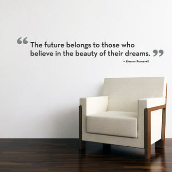The Future Belongs Quote Lettering Decal  Vinyl by SimpleShapes