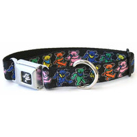 Grateful Dead - Dancing Bears Dog Collar