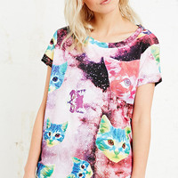 Eleven Paris Psychedelic Cat Tee - Urban Outfitters