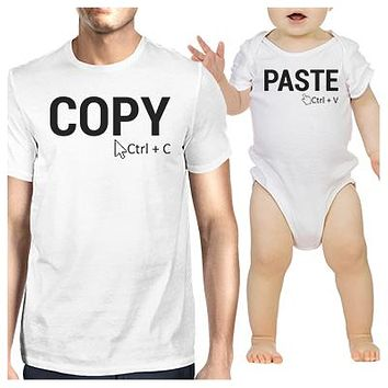 Parent and Child Matching T-Shirt and Bodysuit Set - Copy and Paste