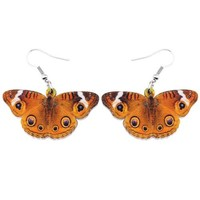 Acrylic Drop Dangle Big Precisalmana Linnaenus Butterfly Earrings For Women New Fashion Accessories Insect Jewelry
