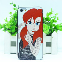 Little Mermaid Ariel Whiskey Jack Daniel's shirt  Iphone Apple Case 5 5SE SQ12017 hwd