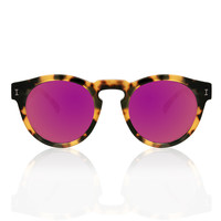 LEONARD TORTOISE WITH PINK MIRRORED LENSES