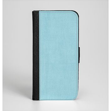 The Vintage Blue Surface Ink-Fuzed Leather Folding Wallet Case for the iPhone 6/6s, 6/6s Plus, 5/5s and 5c