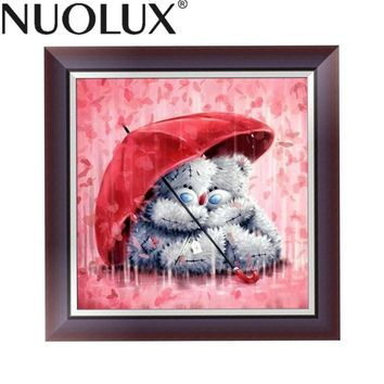 DIY 5D Resin Diamond Fluffy Bear Painting Embroidery Cross Stitch Painting Pictures DIY Arts Crafts Home Wall Decor