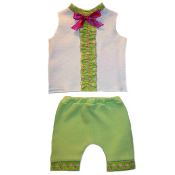 Baby Girls' Summertime Flowers 2 Piece Shorts Clothing Set